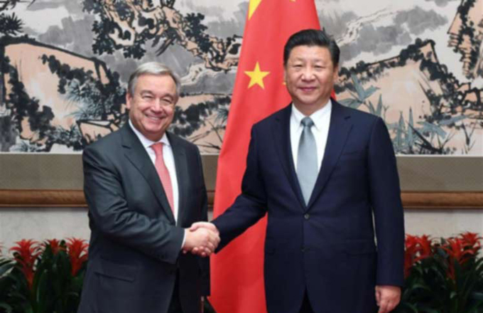 António Guterres y Xi Jinping dialogan en Ginebra