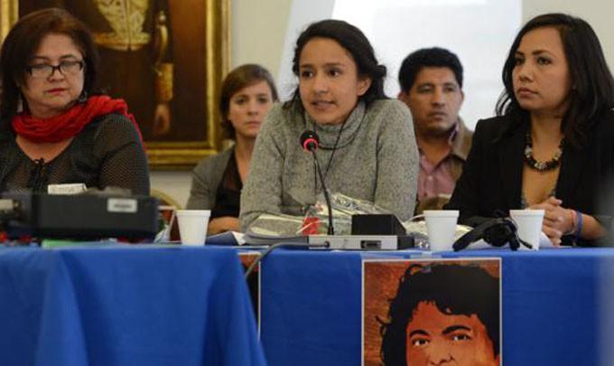 Berta Zúñiga, hija de Berta Cáceres,ok