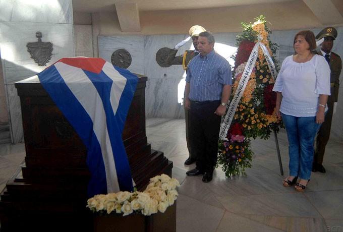 SANTIAGO DE CUBA-MOVIMIENTO OBRERO RINDEN HOMENAJE A  MARTI Y