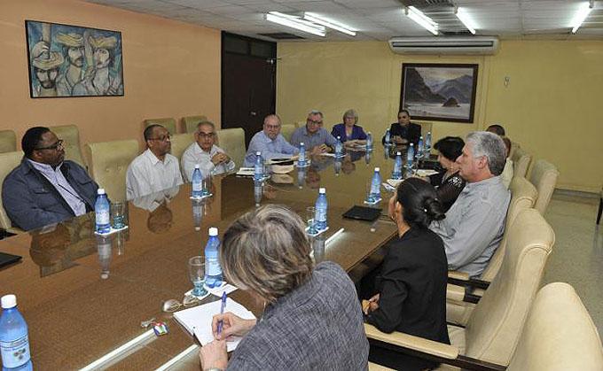 Sostiene Díaz-Canel encuentro con líderes de iglesias protestantes de Estados Unidos