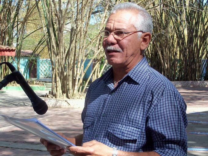Juan  A. Porras León, presidente de la Unaicc en GranmaFOTO/Orlando Fombellida Claro