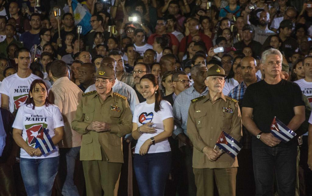 LA HABANA-PRESIDE RAÚL MARCHA DE LAS ANTORCHAS EN LA CAPITAL CUBANA