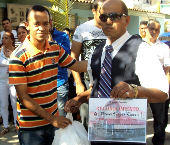 Reinier Vargas Reyes, estimulado FOTO/Orlando Fombellida Claro