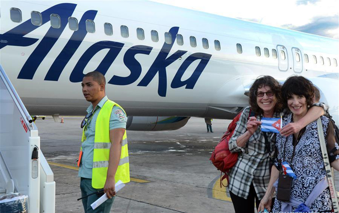 Alaska Airlines inició sus vuelos regulares a La Habana