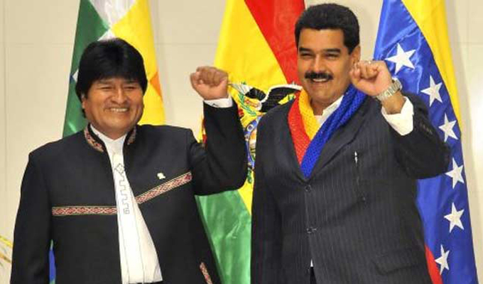 Evo Morales reafirma apoyo a Revolución Bolivariana en Venezuela