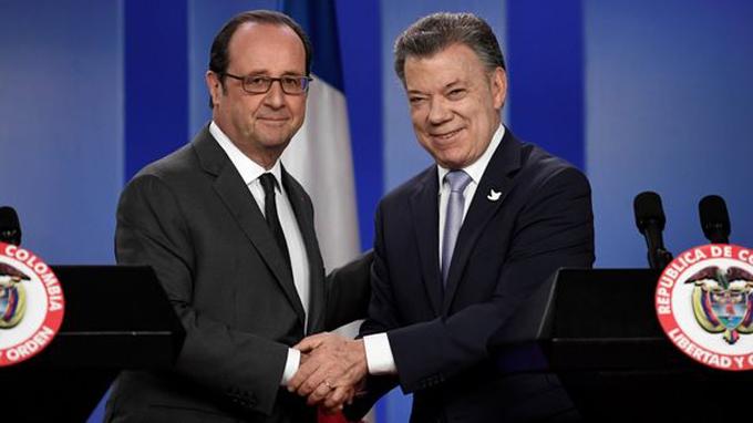 Irá Santos con presidente francés a zonas transitorias guerrilleras