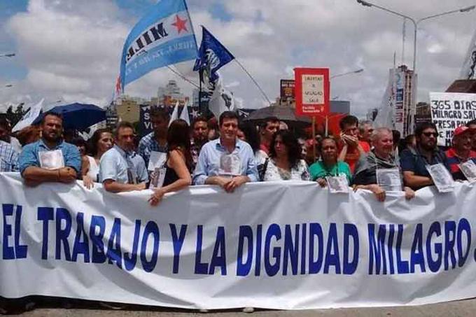 Masiva movilización en Argentina para exigir libertad de Milagro Sala