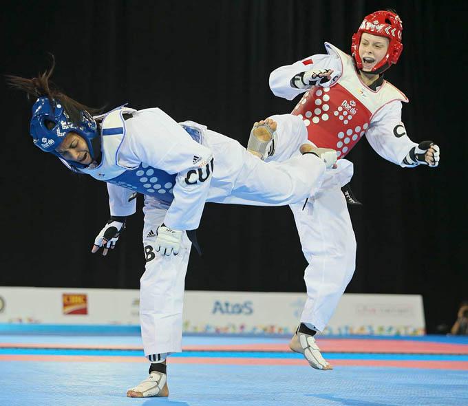 Yamilec se confirmó como una de las principales taekwondocas de Cuba / Foto Internet