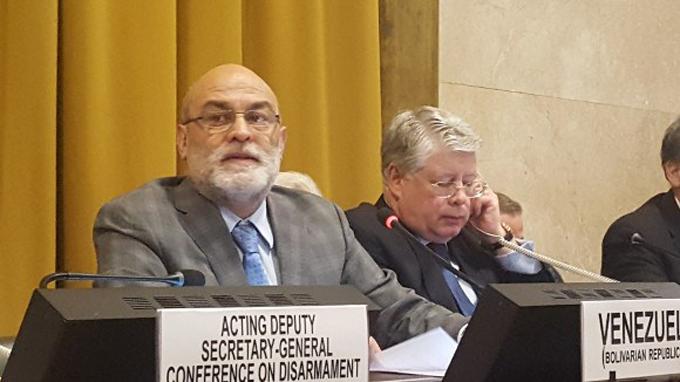 Venezuela reitera en ONU-Ginebra su vocación pacifista