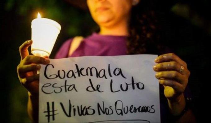 Movimientos sociales piden justicia por incendio en Guatemala