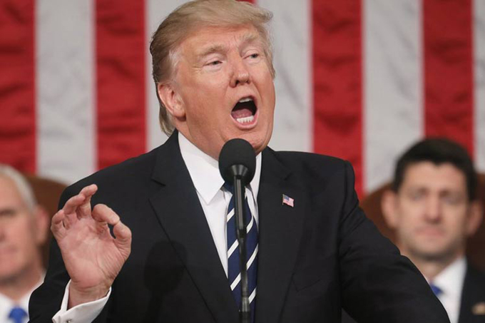 Trump y su discurso en Congreso de EE.UU., lluvia de críticas