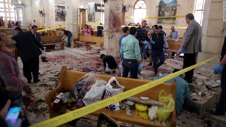 Sangriento Domingo de Ramos en Egipto: 45 muertos y 110 heridos en un doble atentado contra templos