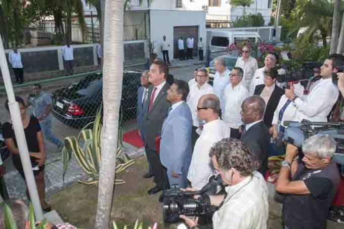 Presidente de Seychelles prosigue su agenda de trabajo en Cuba (+Fotos)