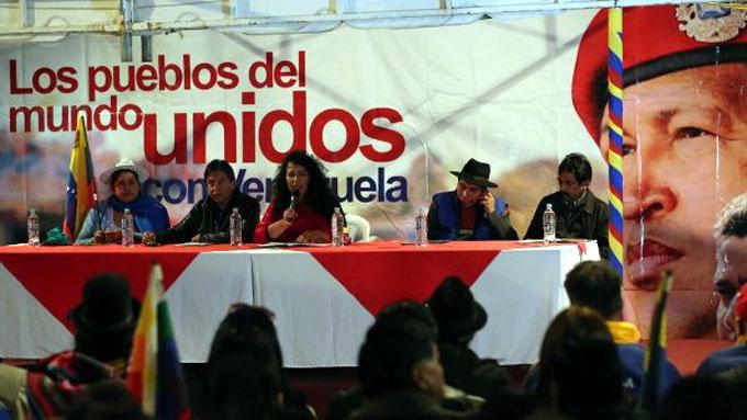 Pueblos del mundo se solidarizan con Venezuela