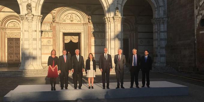 Concluye reunión de ministros del exterior del G-7 en Italia