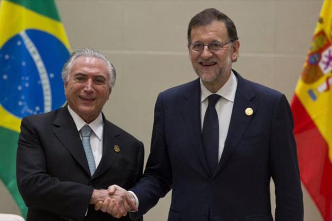 Jefe de Gobierno español, Mariano Rajoy, de visita en Brasil