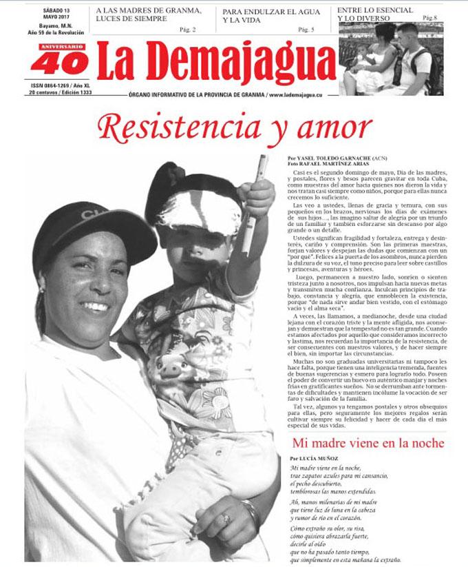 Edición impresa 1333 del semanario La Demajagua  sábado 13 de mayo del 2017