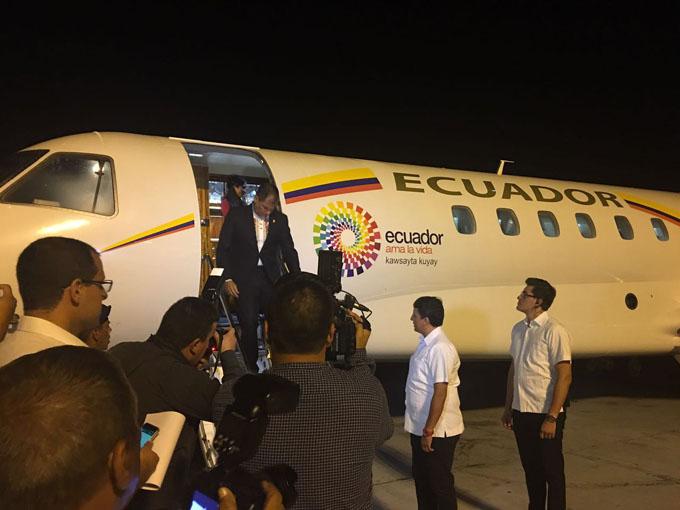 Arribó a Cuba el presidente de Ecuador, Rafael Correa (+ fotos y video)