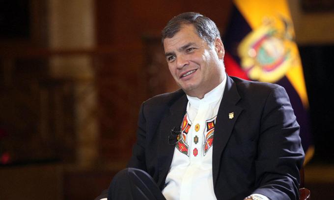 Preside Correa último acto de cambio de guardia como líder de Ecuador