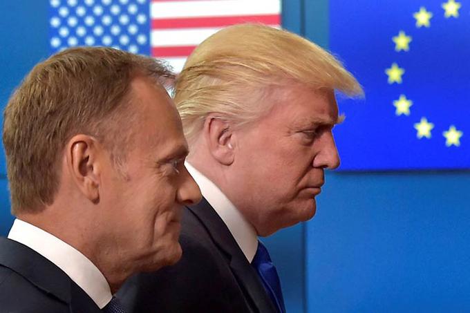 Mantienen discrepancias la UE y Trump tras reunión en Bruselas