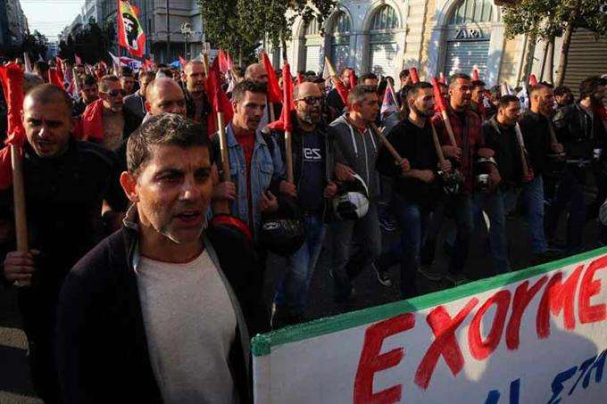 Huelga general en Grecia contra medidas de austeridad del gobierno