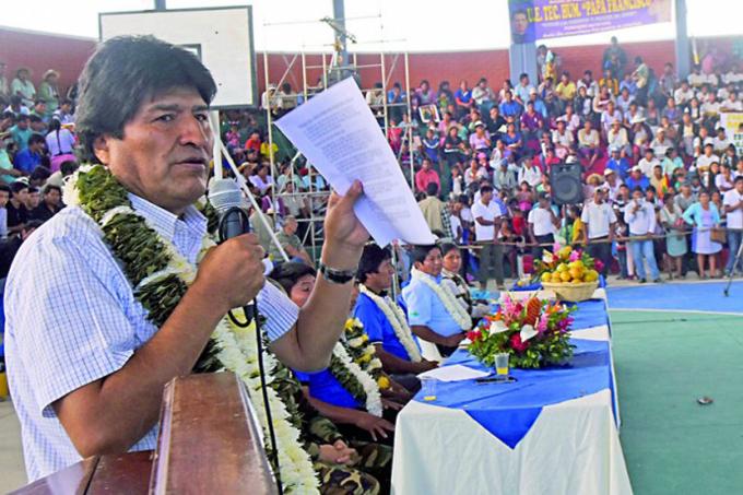 Presidente boliviano participará en marcha por el 1 de mayo