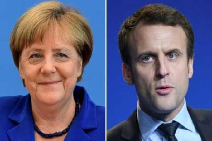 Macron dialogará con Merkel en segundo día como presidente de Francia