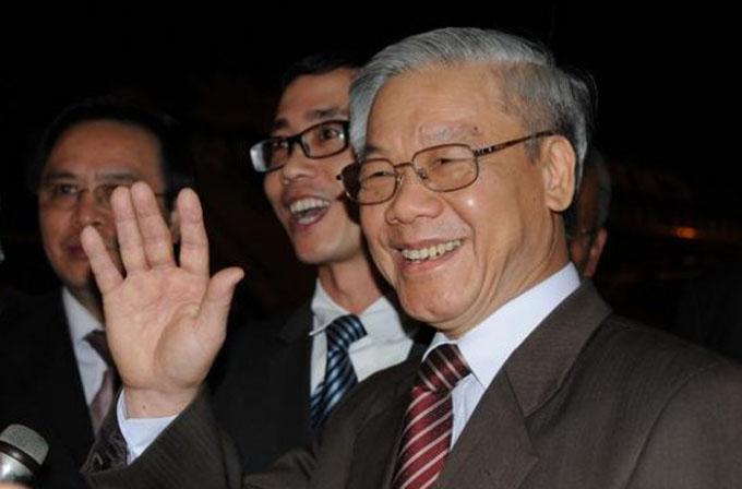 Líder del Partido Comunista de Vietnam recibe a delegación cubana
