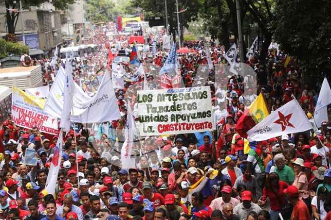Pueblo de Venezuela manifestará respaldo a proceso constituyente