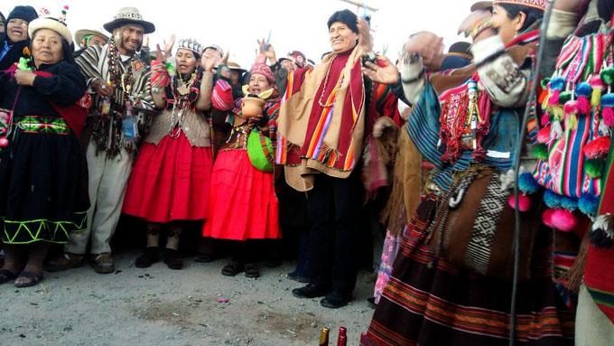 Evo Morales pide unidad ante las agresiones en el Año Nuevo Andino