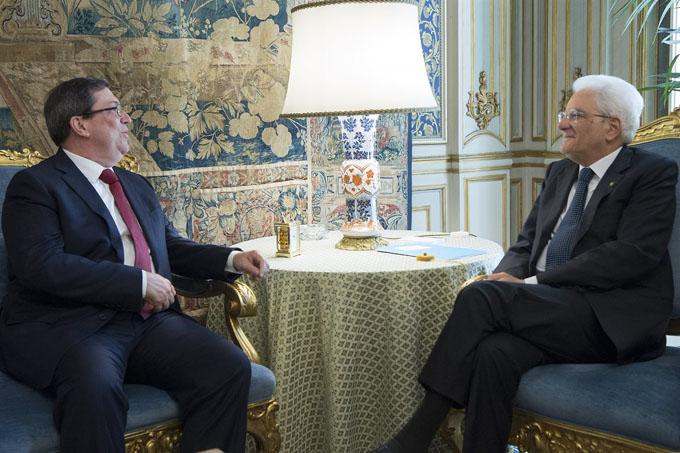 Recibe presidente italiano al canciller cubano, Bruno Rodríguez