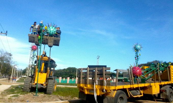 Instalan Lámparas de Sombra en Bayamo (+ fotos)