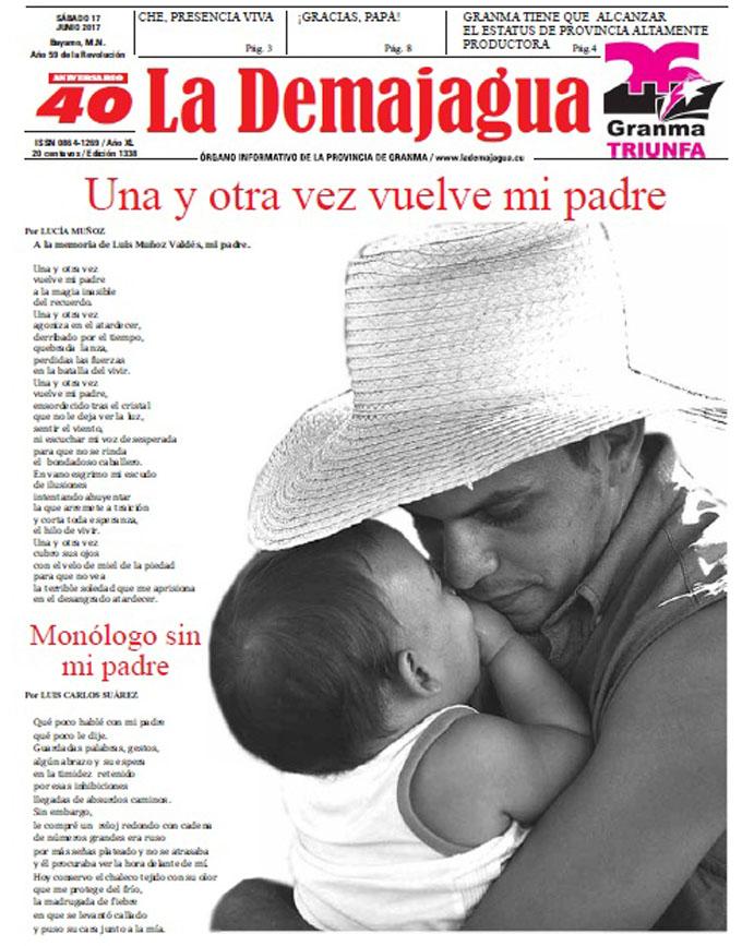 Edición impresa 1338 del semanario La Demajagua, sábado 17 de junio de 2017
