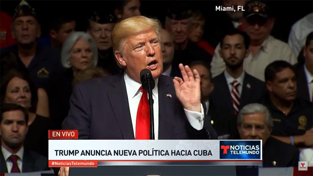 Trump anuncia que cancelará completamente acuerdo de Obama sobre Cuba
