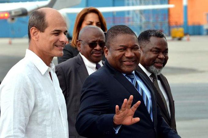 Inicia actividades en Cuba presidente de Mozambique