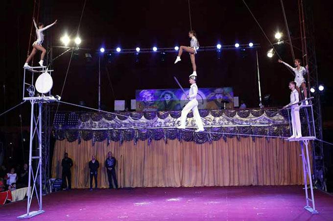Funambulistas de Belarús triunfan en Festival Circuba 2017