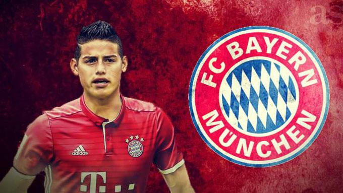 James jugará con el Bayern Munich de la Liga alemana de fútbol