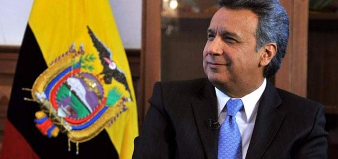 Presidente Moreno goza de respaldo popular en Ecuador