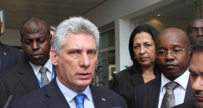 Siempre Cuba con Angola, dice primer vicepresidente Díaz-Canel