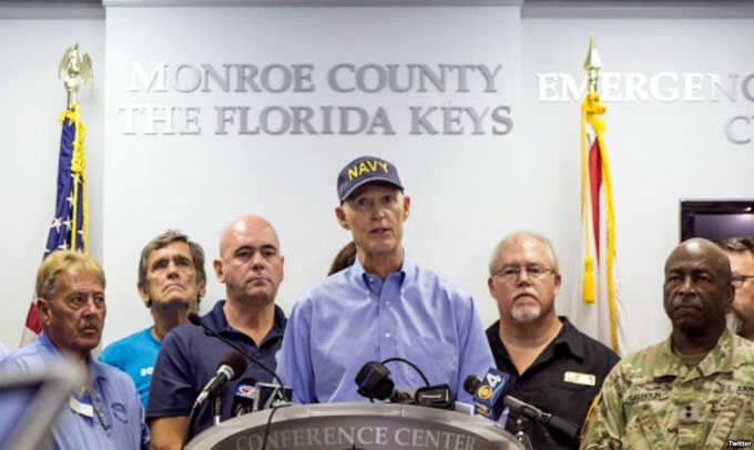 Urgen a evacuar en Florida, EE.UU., ante esperado impacto de Irma