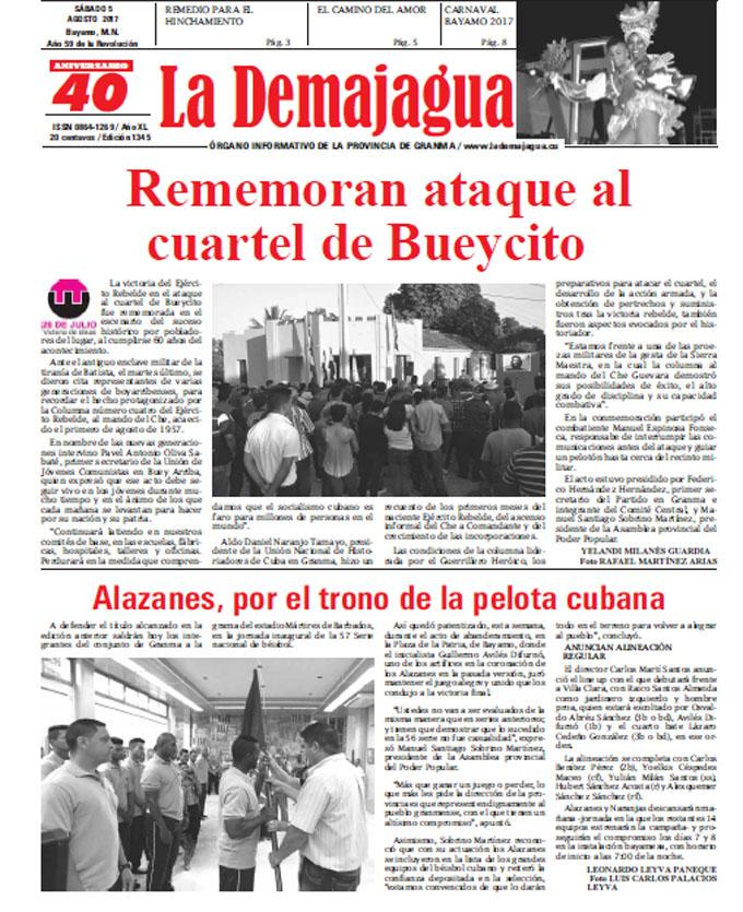 Edición impresa 1350 del semanario La Demajagua, sábado 9 de septiembre de 2017