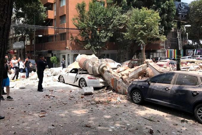 Reportan derrumbes por fuerte sismo en México (+ fotos y videos)