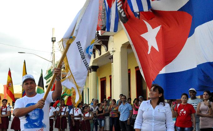 Delegación de  Granma  con  espíritu  antimperialista al Festival de la Juventud (+ fotos y videos)