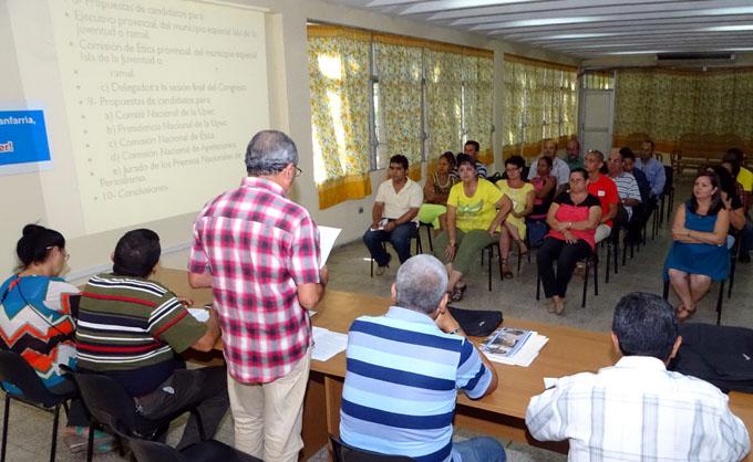 Realizan asamblea décimo Congreso en  el periódico La Demajagua (+ fotos)