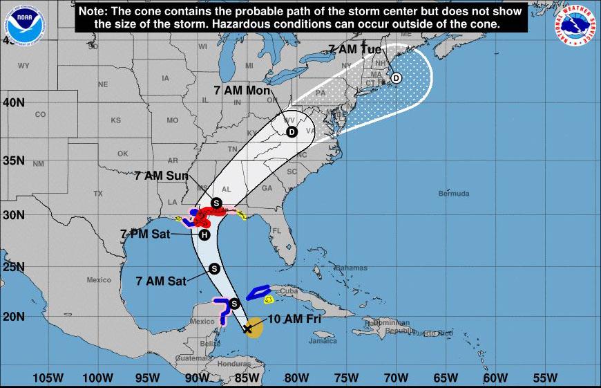 Decretan fase informativa en occidente cubano por ciclón Nate