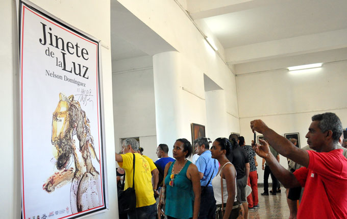 Inauguran exposición de artes plásticas dedicada a Fidel (+ fotos)
