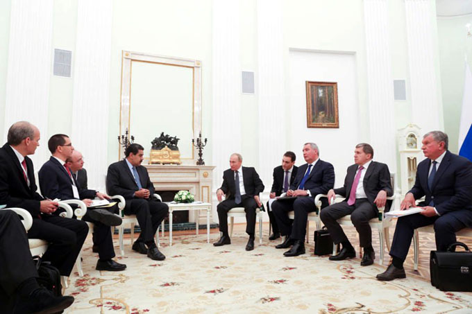 Maduro y Putin fortalecen lazos de cooperación tras reunión en Moscú (+ fotos y video)