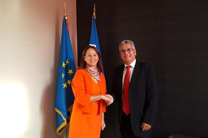 Alta representante francesa recibe a embajador de Cuba