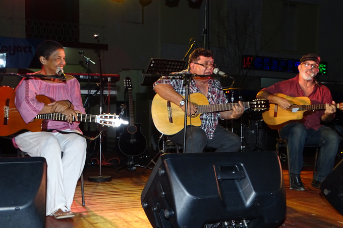 Ofrecen concierto en Bayamo los trovadores Augusto Blanca, Martha Campos y Pepe Ordaz (+fotos, audio y video)