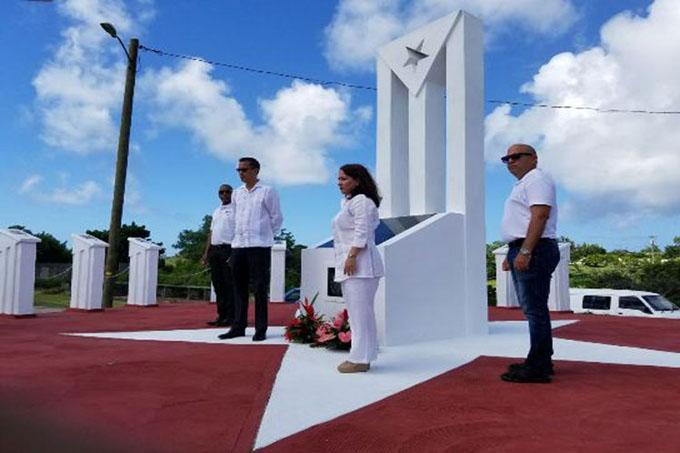 Inauguran en Granada obelisco a mártires internacionalistas cubanos